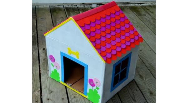 How To Make Home how to make a doghouse from recycled cardboard - green diary