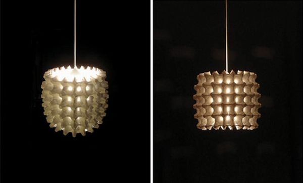 How to Make an Egg Carton Flower Pendant Light by Green Diary