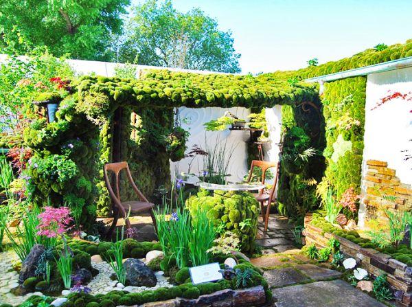 نتیجه تصویری برای beautiful roof garden