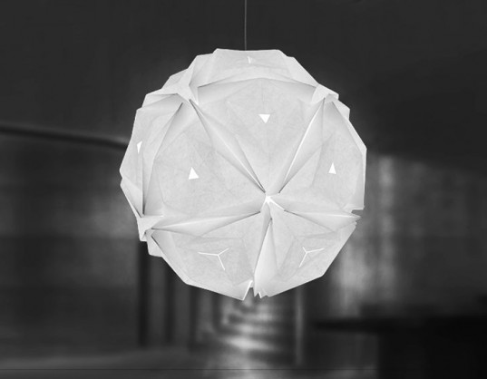 Origami Folding Lamp Promotes Art And Sustainable Design