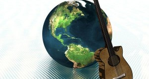earth and guitar